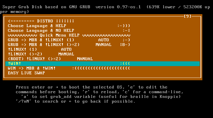 Clonezilla-SysRescCD - Documentation: Fixing boot problems